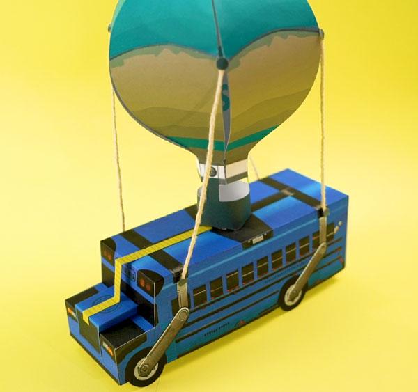 eu criando papercraft Ônibus de batalha